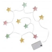 A Little Lovely - Guirlande lumineuse étoiles pastelles