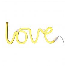 A Little Lovely - Néon jaune Love