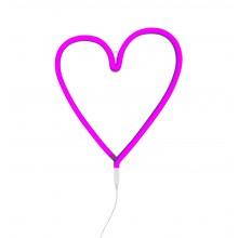 A Little Lovely - Néon rose en forme de coeur