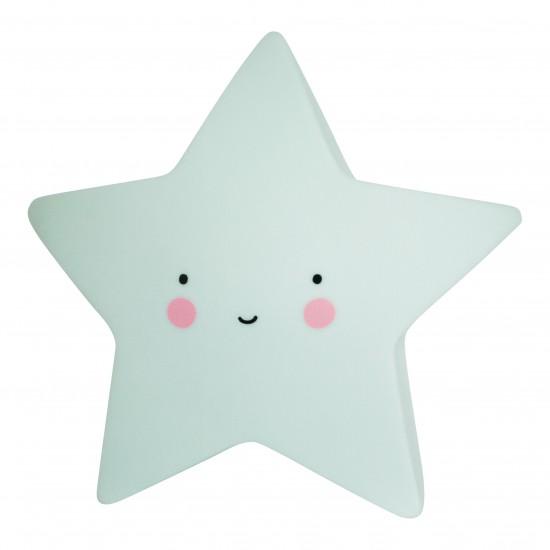 A Little Lovely - Veilleuse étoile vert menthe