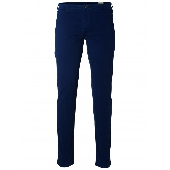 Selected homme - Pantalon chino bleu marine skinny
