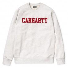 Carhartt WIP - Sweat college blanc chiné