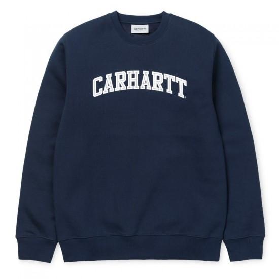 Carhartt WIP- Sweat marine avec inscription blanche