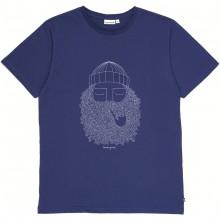 Bask in the sun - T-shirt bleu marine smoking pipe
