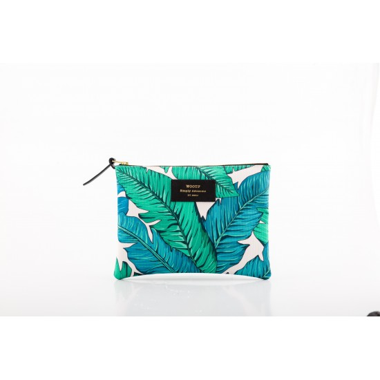 Woouf - Pochette large imprimé tropical