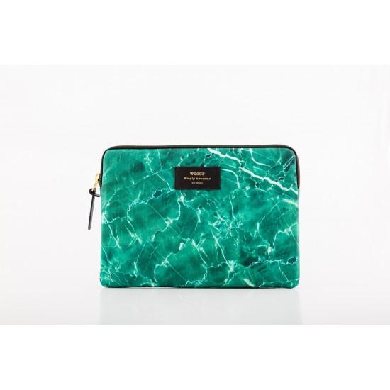 Woouf - Housse motif marbre vert pour tablette et iPad