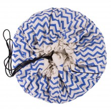 Play and Go - Sac de rangement - Zig zag blue