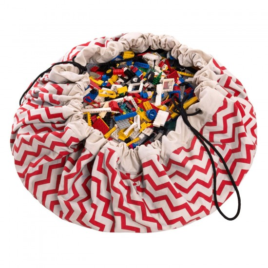 Play and Go - Sac de rangement - Zig zag red