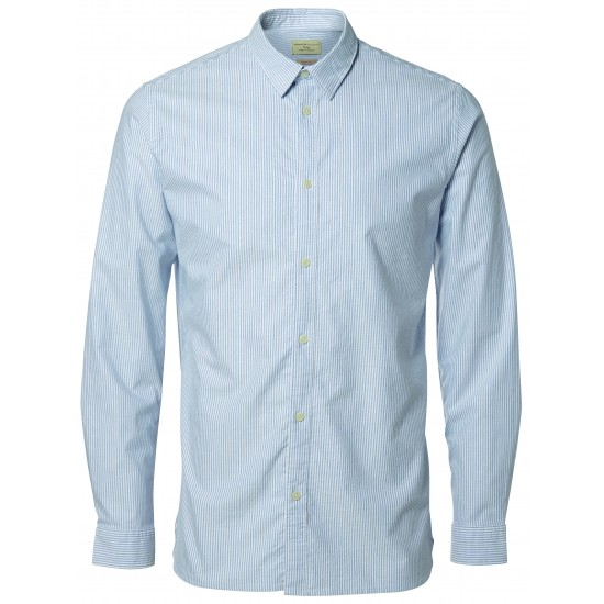 Selected homme - Chemise rayée bleue et blanche homme
