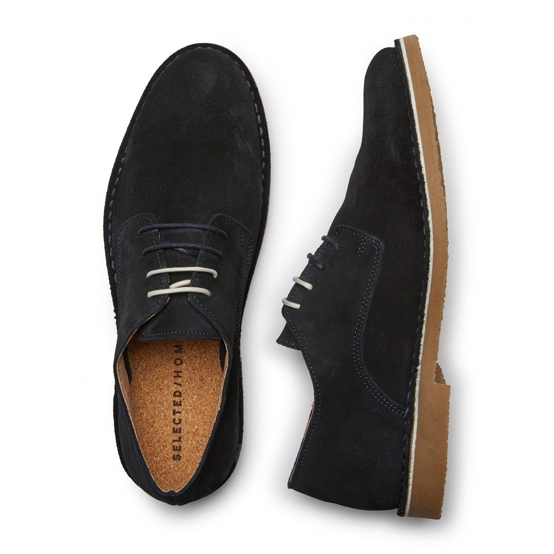 Selected Boots en daim marine