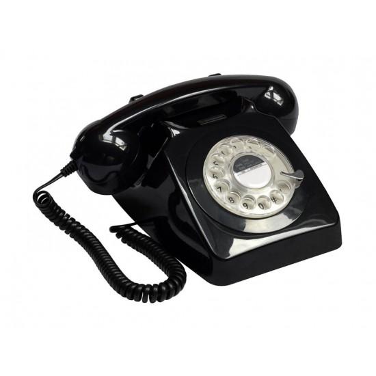 GPO - Téléphone noir rétro 746