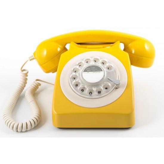GPO - Téléphone orange rétro 746