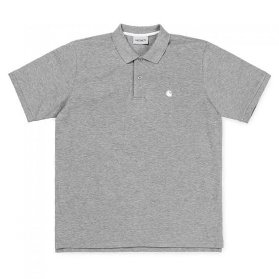 Carhartt wip - Polo gris pour homme