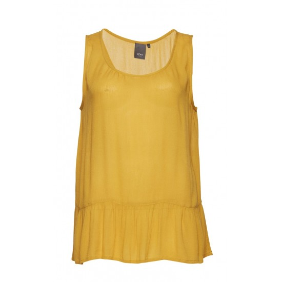 Ichi - Débardeur moutarde femme
