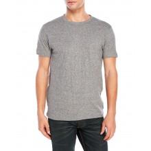 Bellfield - T-shirt gris chiné moucheté
