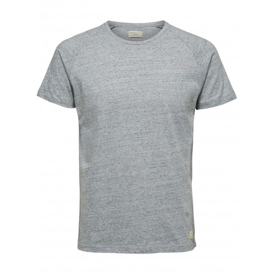Selected homme - T-shirt gris chiné pour homme