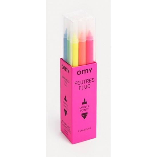 Omy - 16 Feutres fluos