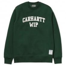 Carhartt WIP- Sweat vert avec inscription blanche