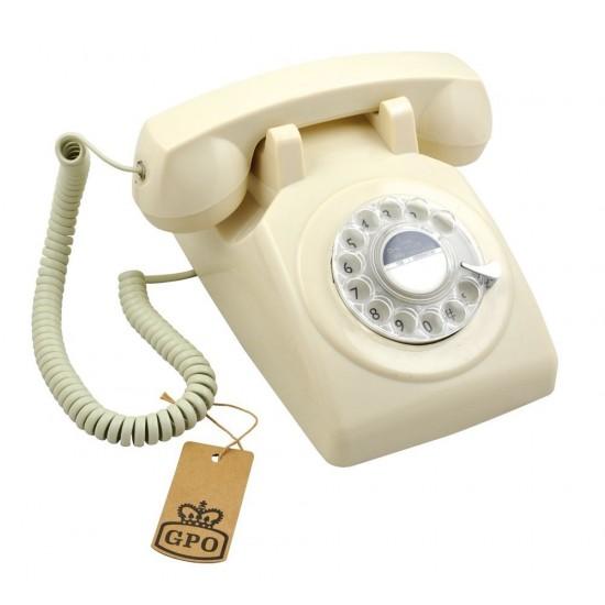 GPO - Téléphone ivoire rétro 746