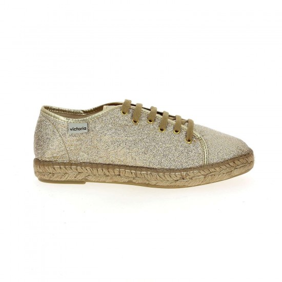 Victoria - Chaussures dorées femme