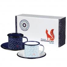 Folklore - Set de 2 tasses espresso émaillées