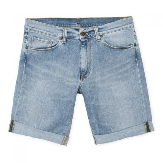 Carhartt WIP - Short en jeans délavé
