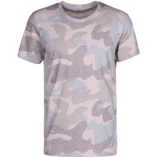 Selected - T-shirt mauve à motifs