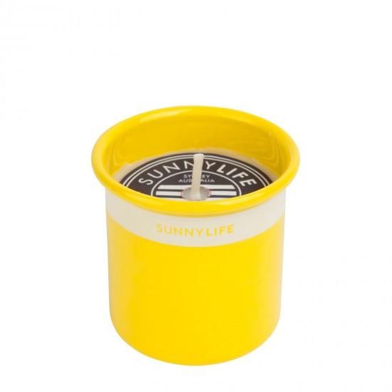Sunnylife - Bougie jaune à la citronelle