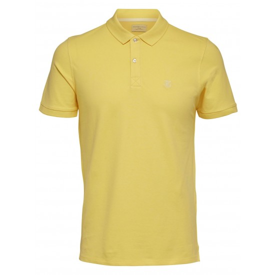 Selected - Polo jaune broderie blanche
