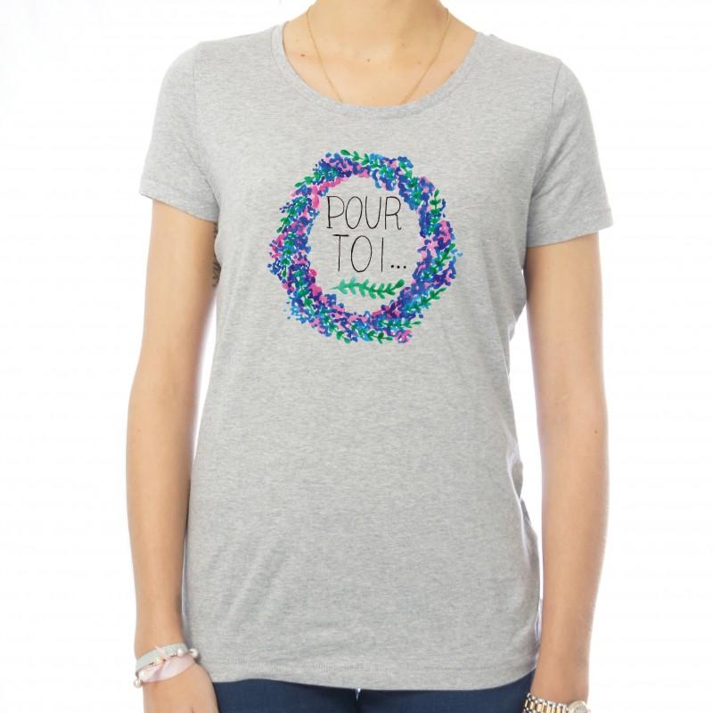 6d7f8a2ccc9ad T-shirt femme Pour toi... Loading zoom