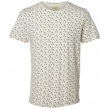 Selected homme - T-shirt écru à motifs