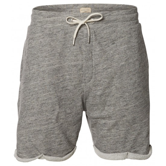 Selected - Short sweat gris