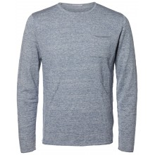 Selected homme - Pull bleu chiné pour homme