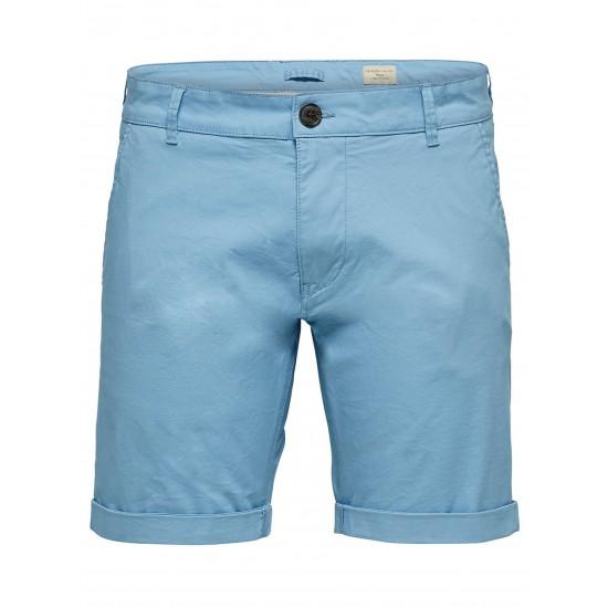 Selected - Bermuda homme bleu ciel