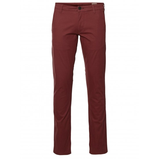 Selected homme - Pantalon chino rouge rosé
