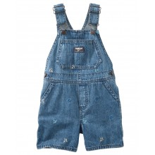 Salopette OshKosh denim ancre marine version short