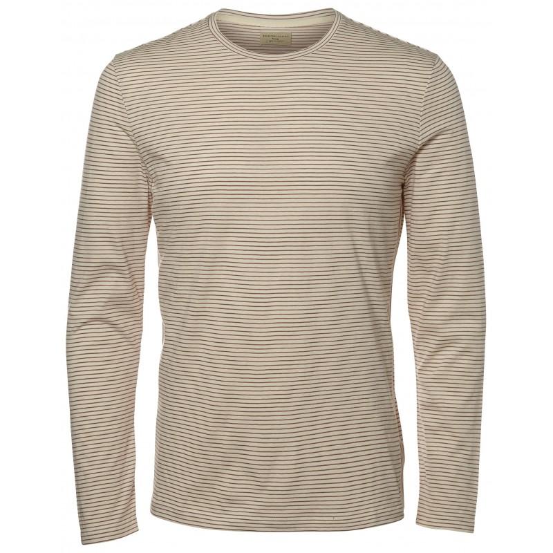 selected t-shirts homme de couleur beige Ftaik