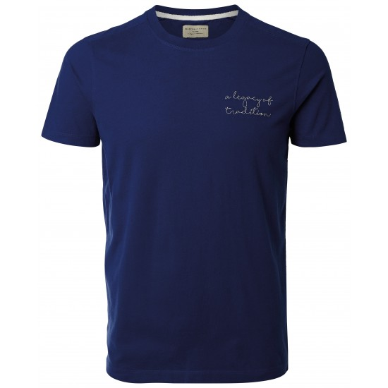 Selected - T-shirt marine broderie A legacy of tradition