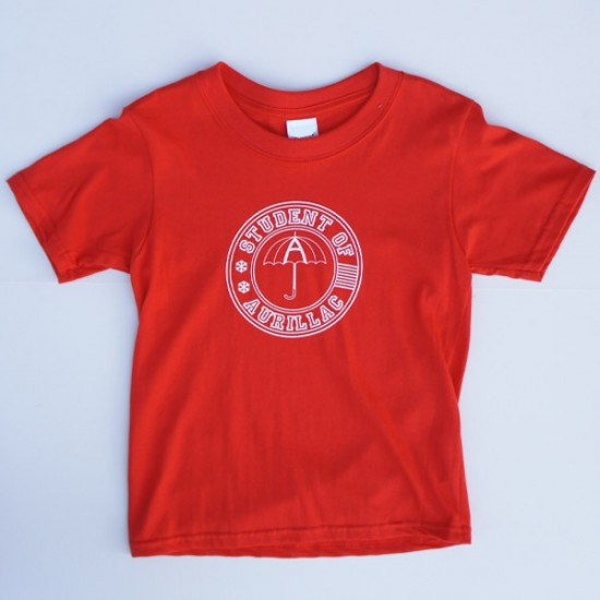T-shirt Enfant Student of Aurillac Rouge-Blanc