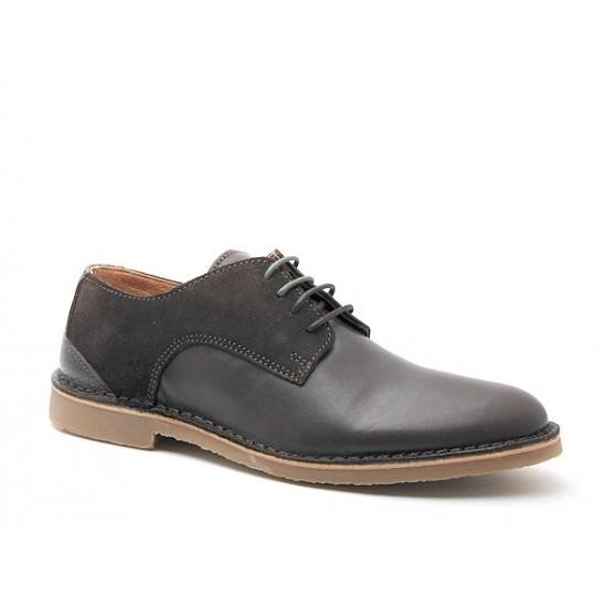 Selected - Chaussures en cuir et daim marron
