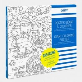 Omy - Grand poster de Bretagne à Colorier