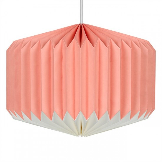 Wild & Wolf - Suspension luminaire en papier Pink Lemonade