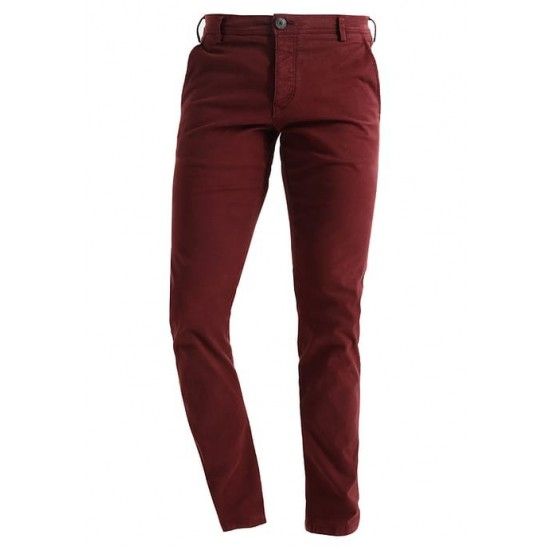 Selected homme - Pantalon chino chocolat skinny