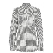 Ichi - chemise rayée noire et blanche pour femme