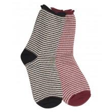 Ichi - Chaussettes rayées noires et blanches