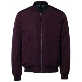 Selected - Veste teddy bomber bordeaux
