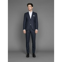 Selected - Pantalon costume gris foncé à carreaux