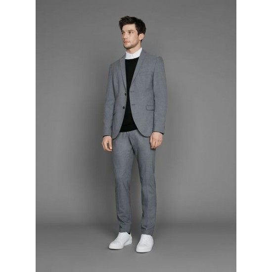 Selected - Veste costume gris clair slim fit