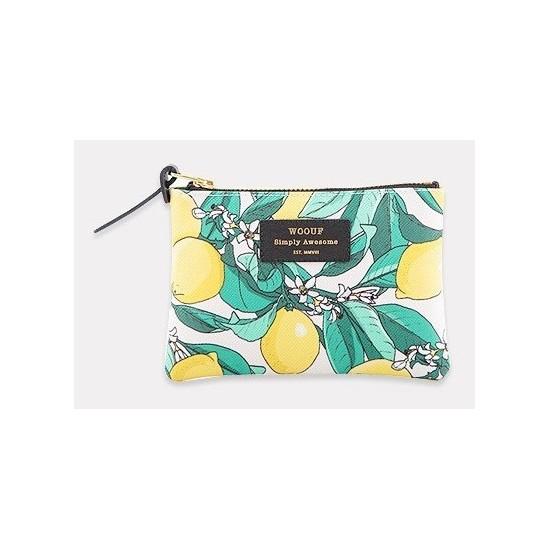 Woouf - Petite pochette imprimé citrons