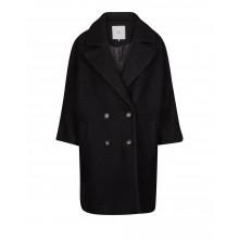 Minimum - Manteau long noir en laine